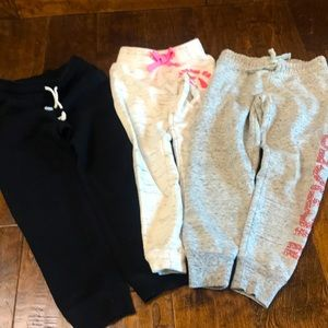 Bundle of three sweatpants joggers, size 5 and 6